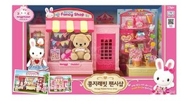 Konggi Rabbit Fancy Gift Doll Stationery Shop Store Dollhouse Roleplay Playset
