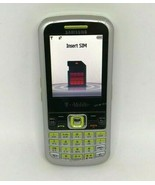Samsung SGH-T349 T-Mobile Silver Green Phone Bundle With Charger Clean I... - $14.84