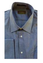 15.5 34/35 NWT Authentic Joseph Abboud Profile Men Navy Blue Pin Dot Dre... - €110,08 EUR