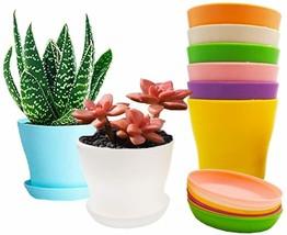 8 Pack 4 Inch Plastic Plant Pot, Colorful Flower Pots,Plastic Nursery Pot - $18.80