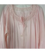 New Vintage 60s Dixie Belle Long Pink Night Robe Size X Large 44-46 Made... - $94.00