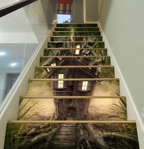 3D Tree House 831 Stair Risers Decoration Photo Mural Vinyl Decal Wallpa... - $56.12+