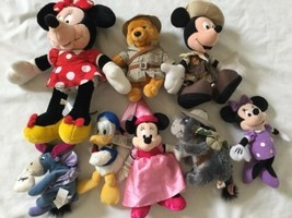 Disney Eeyore Pooh Minnie Mickey Plush Lot ... And Donald Too! - $23.36