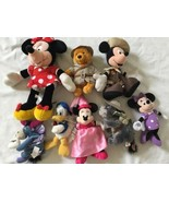 Disney Eeyore Pooh Minnie Mickey Plush Lot ... And Donald Too! - $23.36