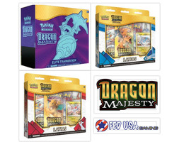 Pokemon Dragon Majesty Elite Trainer Box + Latios & Latias Pin Collectio... - $109.99