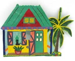 Metal Handmade Handpainted Beach Cottage Single Light Switch Cover Black... - $19.79