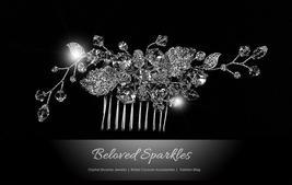 Derica Curved Leaves Hair Comb | Swarovski Crystal - $53.95