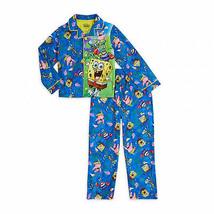 SpongeBob SquarePants Character Scene 2-Piece Long Sleeve Pajama Set Mul... - $26.98
