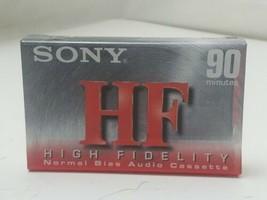 NEW SEALED High Fidelity SONY HF90 AUDIO CASSETTE Normal Bias C-90HFC - $3.15