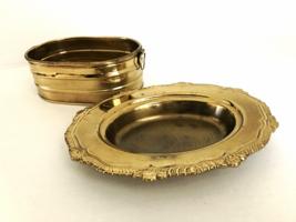 Hodge Podge Brass Trays  Lot of 2  Home Décor Trinkets Holder   Vendors ... - $12.99