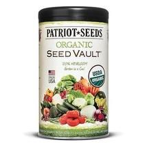 Patriot Seeds Organic Seed Vault Survival Kit - Non-GMO - 100% Heirloom - $23.40