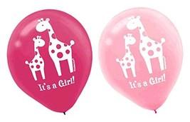 Sweet Safari Girl Jungle Animal Pink Baby Shower Party Decoration Latex Balloons - $13.17