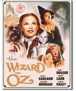 Illustrated Movie Poster Dorothy and Toto The Wizard of Oz Metal Sign - $20.95