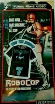 New Men's Robo Cop Funko Home Video VHS Boxed Short Sleeve Tee Exclusive NIB