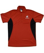 NCAA Wisconsin Badgers Men's Pieced Panel Polo Shirt, X-Large, Red/Black - $24.95
