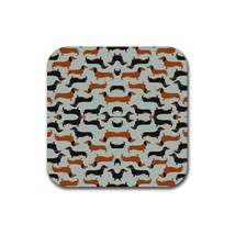Cute Sweet Dachshund Puppy Puppies Dog Pet Animal (Square) Rubber Coaster - $2.99