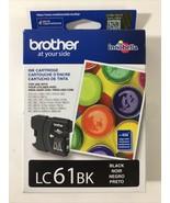 Brother LC61BK Genuine Black Ink Cartridge - Exp 03/2021 Sealed - $16.83