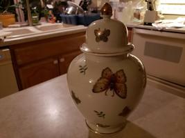 Andrea By Sadek Ginger Jar With Lid Porcelain Japan #8583 - £43.04 GBP