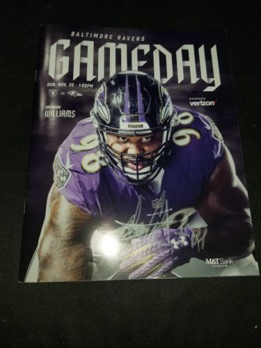 Primary image for Baltimore Ravens Alex Collins GAME DAY Program Autograph