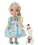 "My First Disney Princess Frozen Snow Glow Elsa Singing 14"" Doll Plus Ola... - $48.50"