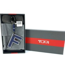 """Tumi Accent Bag Charm Leather Letter """"F"""" Dangler Key Ring - $39.59"""