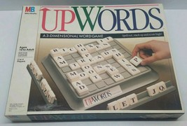 Vtg UPWORDS 1988 3 Dimensional Word Spelling Board Game Milton Bradley Complete  - $34.82