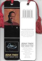 Star Trek Deep Space Nine Sisko Photo Tasseled Laminate Bookmark 1993 UNUSED - $3.99
