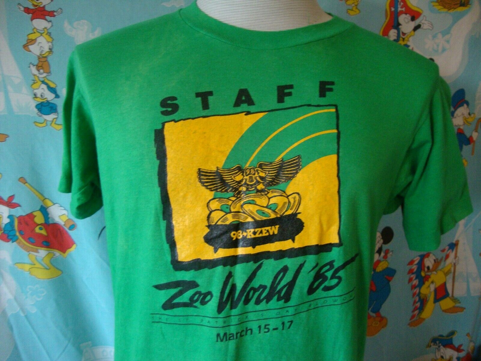 Primary image for Vintage 80's KZEW The Zoo Dallas Radio Station 1985 T Shirt M