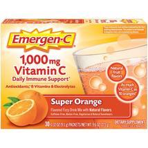 Emergen-C 1000 mg Vitamin C Daily Immune Support Super Orange, 30 Ct - $18.99