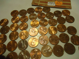 1993-D Lincoln Cent Roll ((( 55 Coins ))) >> S & H + C/S - $3.95