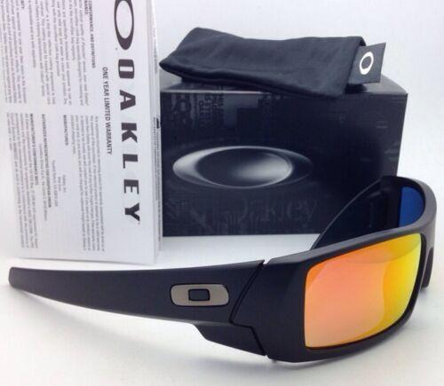 Nuovo Oakley Occhiali da Sole Gascan 26-246 60-15 OPACO Nero Frame W/