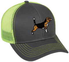 Cap Hat Caps Charcoal With Neon Yellow Mesh Hunter Hunt Rabbit Hound Dog... - $12.99