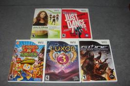 Nintendo Wii: 5 Game Lot - Luxor 3 + Samba De Amigo + GI Joe +++ [COMPLETE] - $20.00