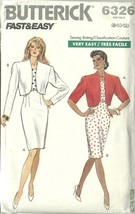 Butterick Sewing Pattern 6326 Misses Womens Jacket Skirt Top Size 8 10 12 New - $12.99