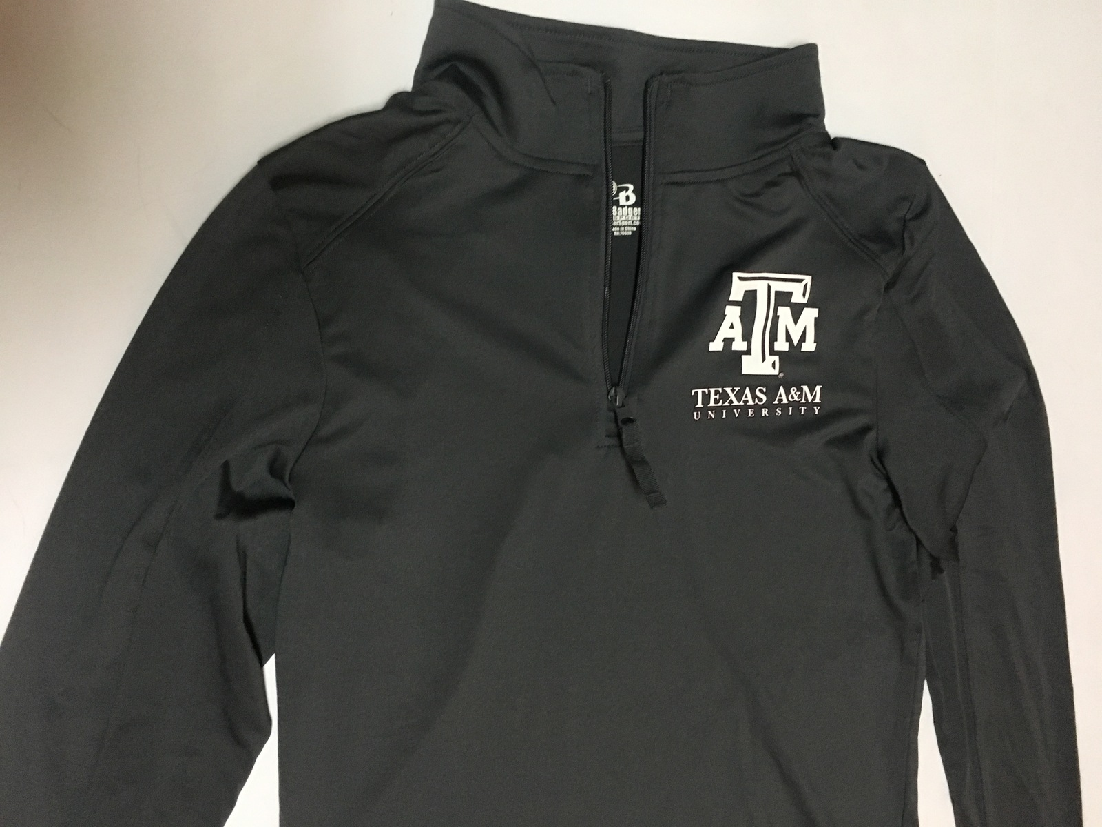 Texas A&M University Ladies Athletic Shirt Gray Sz M Badger Sports