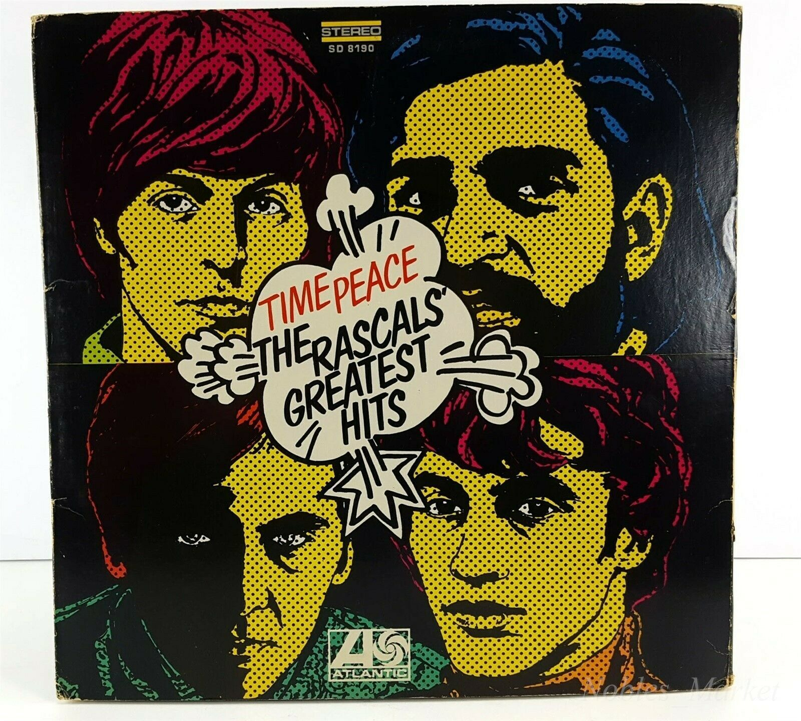 The Rascals, Time Peace Greatest Hits 1968 LP Record Atlantic SD 8190 Stereo