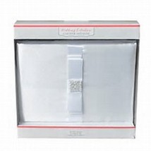 Gartner Studios Wedding Collection 60 Page White Bow Satin Holder Guest ... - $17.99