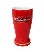 Budweiser Ceramic Sculpted Pilsner Glass Red - $20.98