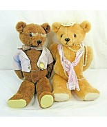 Vintage Teddy Bears Jointed Male Female Couple Plush - $138.59