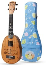 Uma Classic Series Bread Tree Concert Pineapple Ukulele with 20mm Deluxe... - $90.08