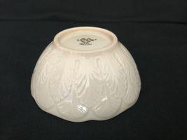 Vintage Lenox Cream Beige 24k Gold Rim Encrusted Bowl Made in USA Leaf Leaves image 7