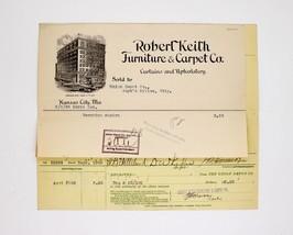 Early 1900s Invoice ~Robert Keith Furniture & Carpet Co- Kansas City, MO... - $49.99