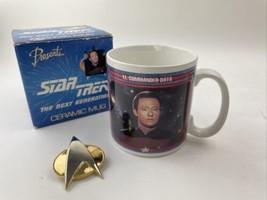 Star Trek the Next Generation coffee mug 1992 ceramic Lt. Commander Data... - $29.69