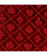 10' section of red two-tone poker table speed cloth - Polyester by Brybelly - $37.99