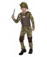 Boys Delta Force Camo Army Halloween Costume Large 10/12 - $21.34