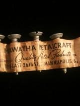 5 Vintage Hiawatha Metalcraft screws in original strip packaging