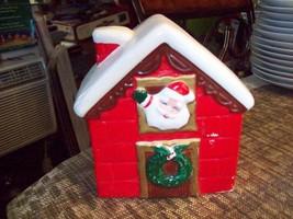 6#K   Beautiful Christmas Decoration Santa Claus looking out window Cera... - $24.74