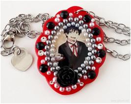 Ao no Exorcist Rin Okumura Resin Pendant, Stainless Steel Chain, Decoden... - $25.00