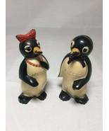1950's Willie & Millie Salt and Pepper Shakers, Famous KOOL Penguins Tob... - $19.35