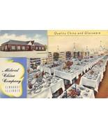 Midwest China Company Elmhurst Illinois advertising linen postcard - £5.64 GBP